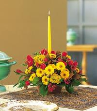 Single Taper Centerpiece by McAdams Floral, your Victoria, Texas (TX) Florist