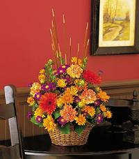Cattails & Mums by McAdams Floral, your Victoria, Texas (TX) Florist