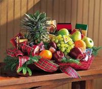 Fruit & Gourmet Basket by McAdams Floral, your Victoria, Texas (TX) Florist
