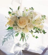 White Roses & Lilies by McAdams Floral, your Victoria, Texas (TX) Florist