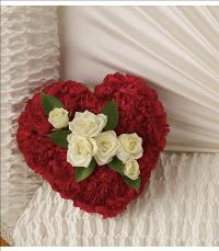 A Devoted Heart Casket Insert by McAdams Floral, your Victoria, Texas (TX) Florist