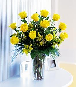 Dozen Yellow Roses by McAdams Floral, your Victoria, Texas (TX) Florist