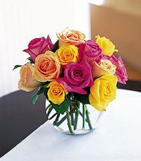 Multi-Color Rose Bowl by McAdams Floral, your Victoria, Texas (TX) Florist