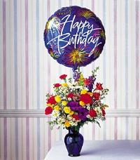 Birthday Fireworks by McAdams Floral, your Victoria, Texas (TX) Florist