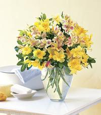 Yellow Alstroemeria Vase by McAdams Floral, your Victoria, Texas (TX) Florist