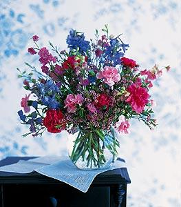 Blue & Pink Rose Bowl by McAdams Floral, your Victoria, Texas (TX) Florist