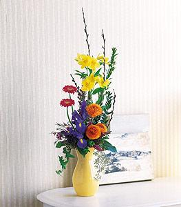 Grouped Spring Vase by McAdams Floral, your Victoria, Texas (TX) Florist