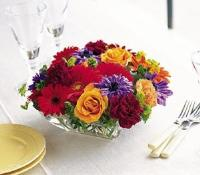 Square Mounded Centerpiece by McAdams Floral, your Victoria, Texas (TX) Florist