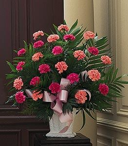 Basket with Pink Carnations by McAdams Floral, your Victoria, Texas (TX) Florist