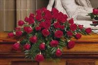 48 Red Rose Casket Spray by McAdams Floral, your Victoria, Texas (TX) Florist