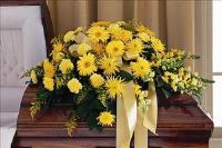 All-Yellow Casket Spray by McAdams Floral, your Victoria, Texas (TX) Florist