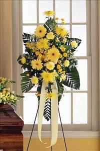 Yellow Easel Spray by McAdams Floral, your Victoria, Texas (TX) Florist