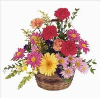 Low Wicker Basket by McAdams Floral, your Victoria, Texas (TX) Florist