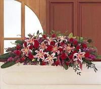 Amethyst And Ruby Casket Spray by McAdams Floral, your Victoria, Texas (TX) Florist