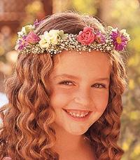 Flower Girl Headpiece by McAdams Floral, your Victoria, Texas (TX) Florist