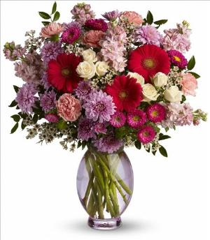 Telefloras Perfectly Pleasing Pinks by McAdams Floral, your Victoria, Texas (TX) Florist