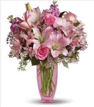 Teleflora's Pink Pink Bouquet by McAdams Floral, your Victoria, Texas (TX) Florist