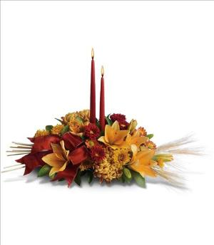 Graceful Glow Centerpiece by McAdams Floral, your Victoria, Texas (TX) Florist