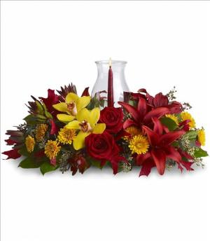 Glow of Gratitude Centerpiece by McAdams Floral, your Victoria, Texas (TX) Florist