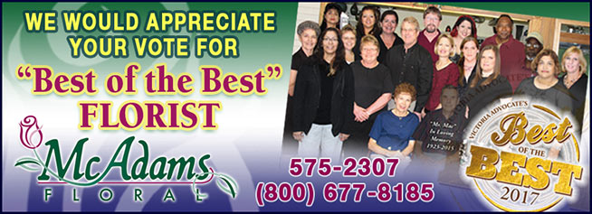Vote for McAdams Floral - Best of the Best 2018