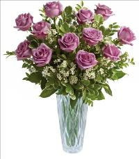 Simply Exquisite Roses in Crystal Vase Standard by McAdams Floral, your Victoria, Texas (TX) Florist