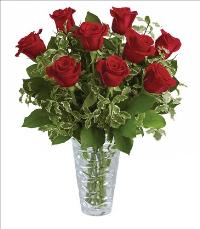 You Have My Heart Crystal Vase Bouquet Standard by McAdams Floral, your Victoria, Texas (TX) Florist
