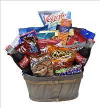 Bushel of Snacks and Soda by McAdams Floral, your Victoria, Texas (TX) Florist