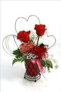 McAdams Perfect Valentine Pair by McAdams Floral, your Victoria, Texas (TX) Florist