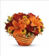Amber Waves Cut Glass Bowl by McAdams Floral, your Victoria, Texas (TX) Florist
