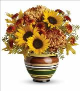 Harvest Stripes Bouquet by McAdams Floral, your Victoria, Texas (TX) Florist