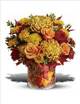 Golden Leaves Bouquet by McAdams Floral, your Victoria, Texas (TX) Florist