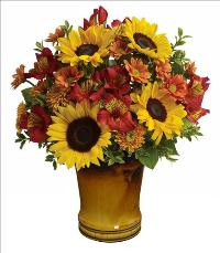 Golden Autumn Bouquet by McAdams Floral, your Victoria, Texas (TX) Florist