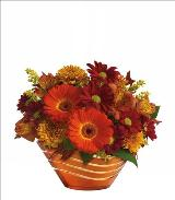 Autumn Artistry Centerpiece Standard by McAdams Floral, your Victoria, Texas (TX) Florist