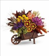 Antique Wheelbarrow Bouquet by McAdams Floral, your Victoria, Texas (TX) Florist