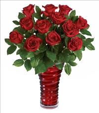 Passionate Red Roses Bouquet by McAdams Floral, your Victoria, Texas (TX) Florist