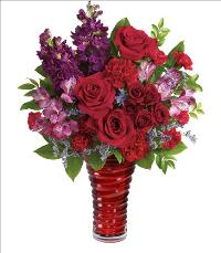 Romantic Swirl Bouquet for Valentines by McAdams Floral, your Victoria, Texas (TX) Florist