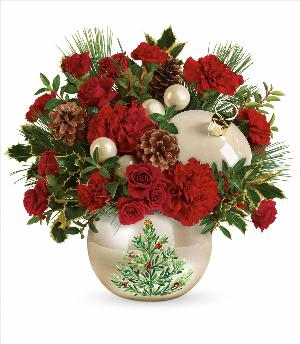 Classic Pearl Ornament Bouquet by McAdams Floral, your Victoria, Texas (TX) Florist
