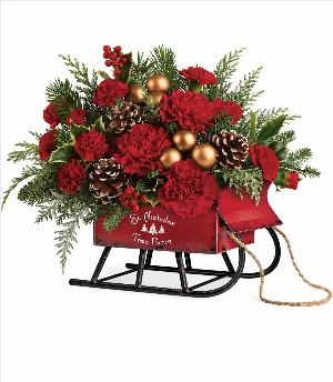 Vintage Sleigh Bouquet by McAdams Floral, your Victoria, Texas (TX) Florist