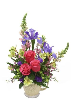 Tuscan Pitcher Bouquet by McAdams Floral, your Victoria, Texas (TX) Florist