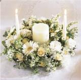 Worldwide Romance Unity Candle Arrangement by McAdams Floral, your Victoria, Texas (TX) Florist