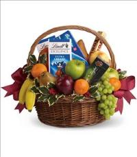 Fruits and Sweets Christmas Basket by McAdams Floral, your Victoria, Texas (TX) Florist