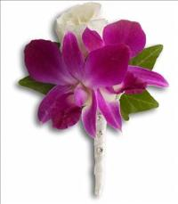 Fresh in Fuchsia Boutonniere by McAdams Floral, your Victoria, Texas (TX) Florist