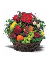 Fruit & Flowers Basket by McAdams Floral, your Victoria, Texas (TX) Florist