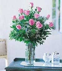 Dozen Pink Roses by McAdams Floral, your Victoria, Texas (TX) Florist
