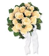 White Rose Nosegay by McAdams Floral, your Victoria, Texas (TX) Florist