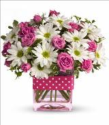 Pink Polka Dots Bouquet by McAdams Floral, your Victoria, Texas (TX) Florist