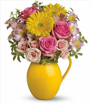 Sunny Day Pitcher Of Charm by McAdams Floral, your Victoria, Texas (TX) Florist